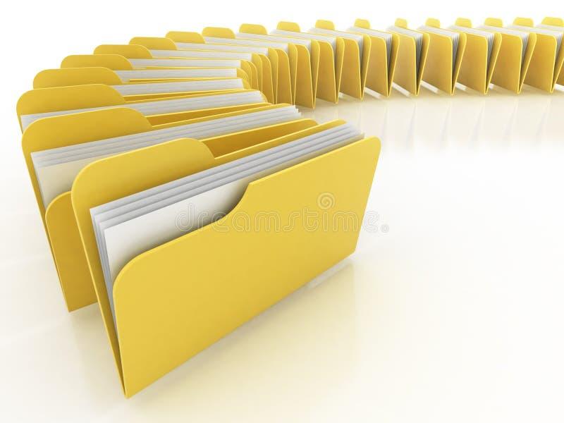 许多的文件夹白色 皇族释放例证