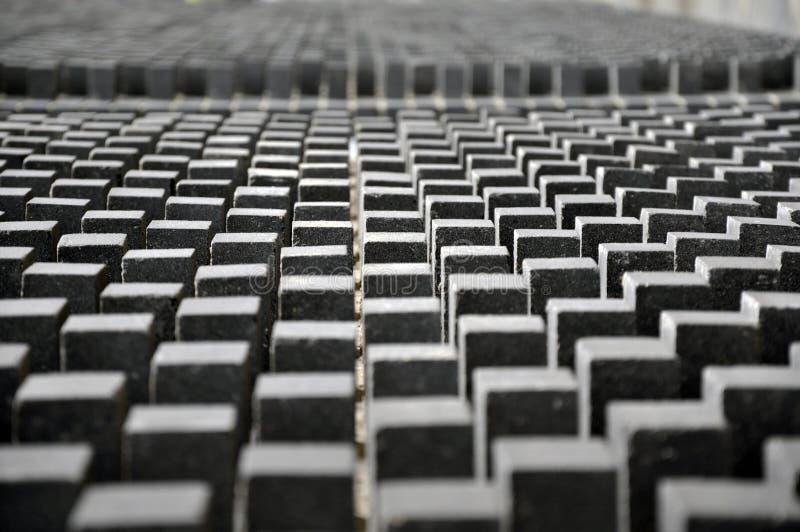 许多相同灰色长方形形状 免版税库存照片
