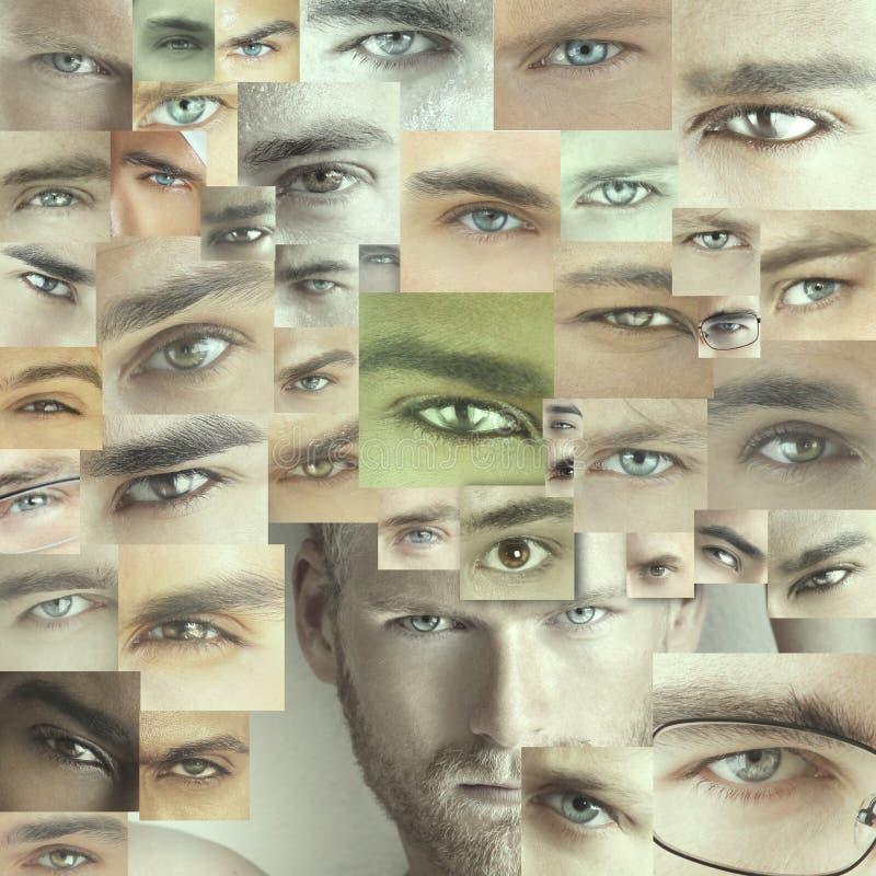 许多眼睛 免版税图库摄影