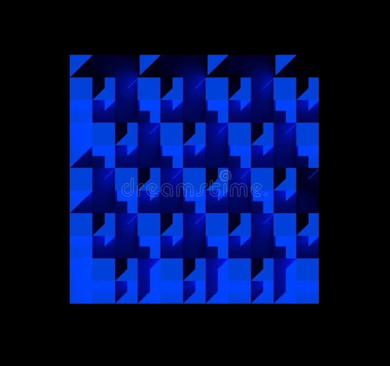 许多箱子的一个蓝色样式 免版税库存图片