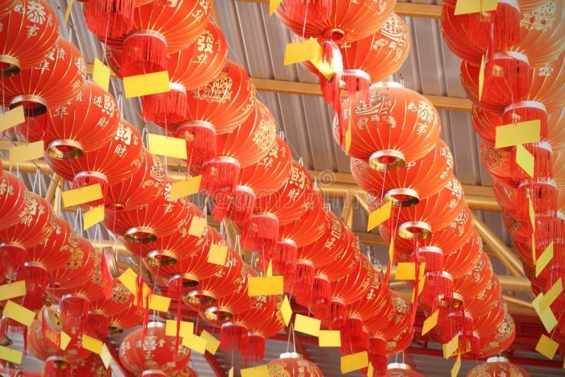 许多红色中国灯笼 库存图片