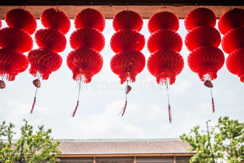 许多红色纸汉语 免版税图库摄影