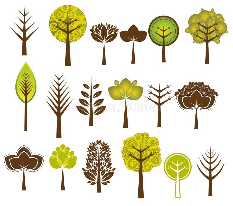 许多结构树向量 库存例证