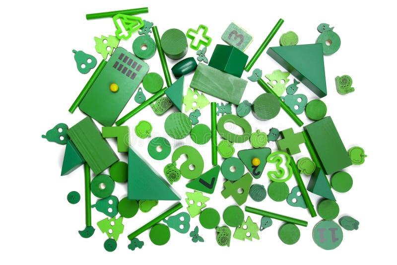 许多绿色玩具 免版税库存照片