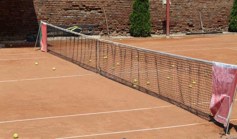 许多网球 库存图片
