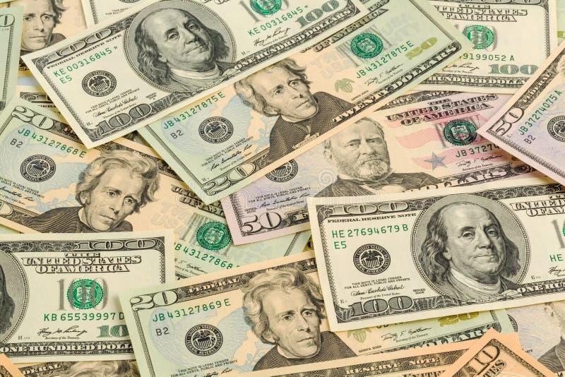 许多美金 免版税库存图片