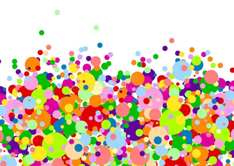 许多背景的球多彩多姿的白色 库存例证