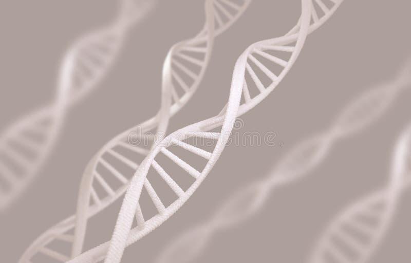 许多脱氧核糖核酸链子 3d翻译 库存例证
