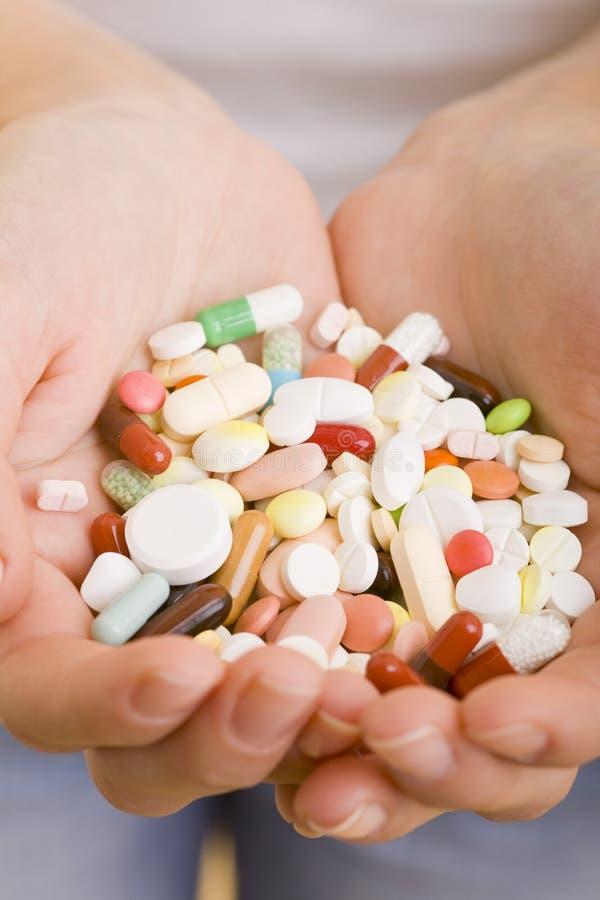 许多药片 库存照片