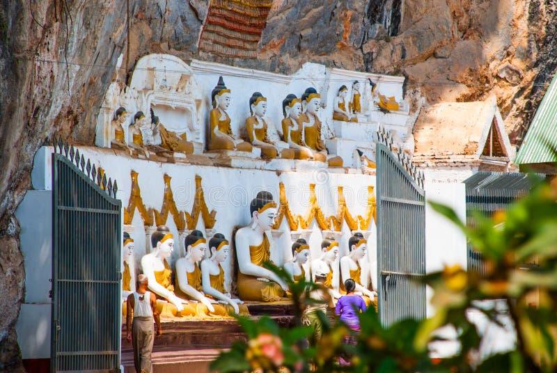 Download 许多菩萨雕象坐,宗教雕刻 Hpa-An,缅甸 缅甸 图库摄影片. 图片 包括有 没人, 模式, 地标, 吸引力 - 72353842