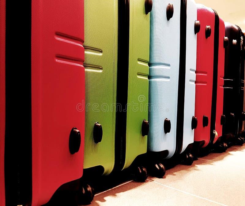 许多行李和手提箱 图库摄影