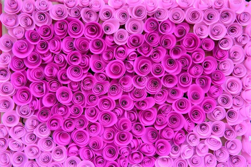 许多裱糊桃红色玫瑰 库存照片