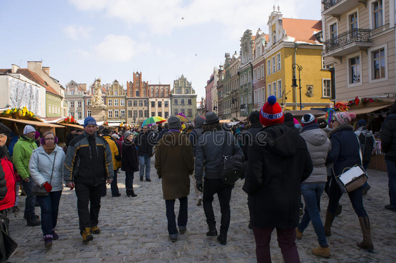 复活节市场在波兹南 免版税库存照片
