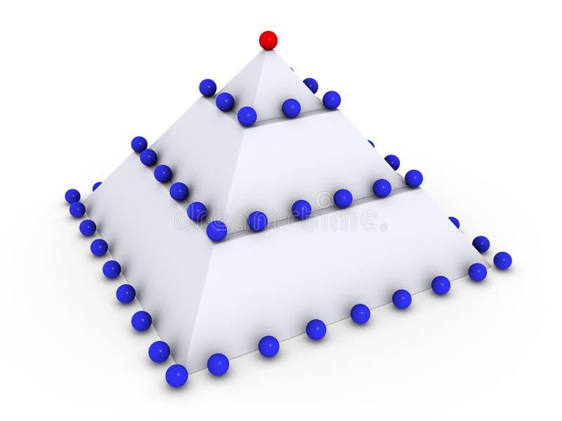 许多金字塔范围 库存例证