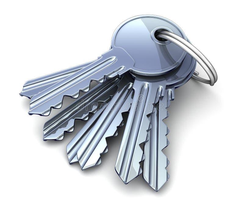 许多钥匙 向量例证