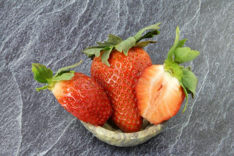 许多非常大草莓 库存图片