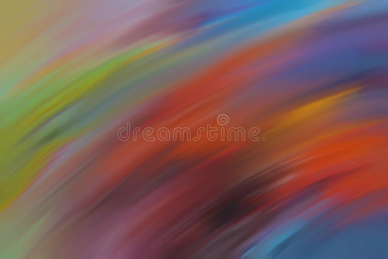 许多颜色树荫在抽象行动作用被弄脏的背景中 模糊的抽象设计 库存例证