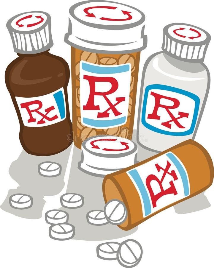 许多医学 免版税库存照片