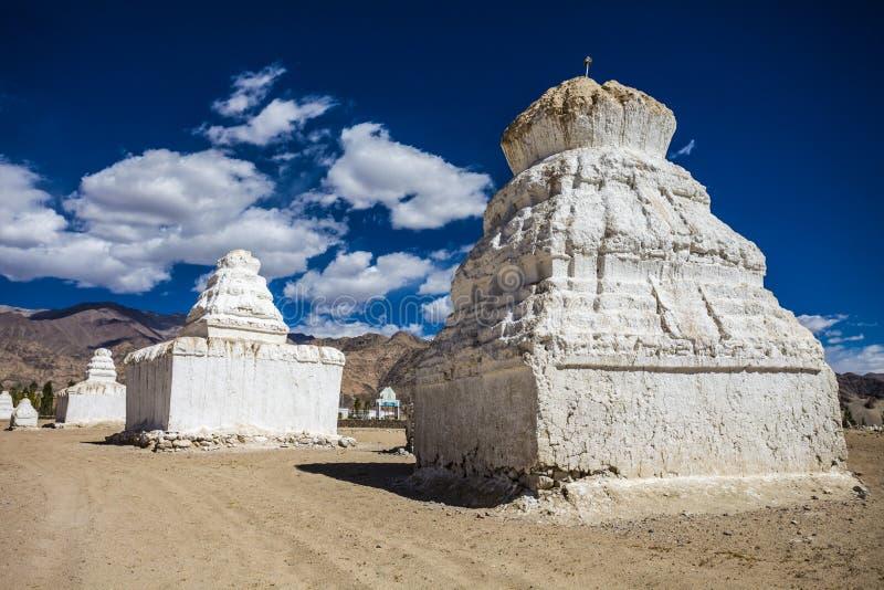 许多stupas 库存照片