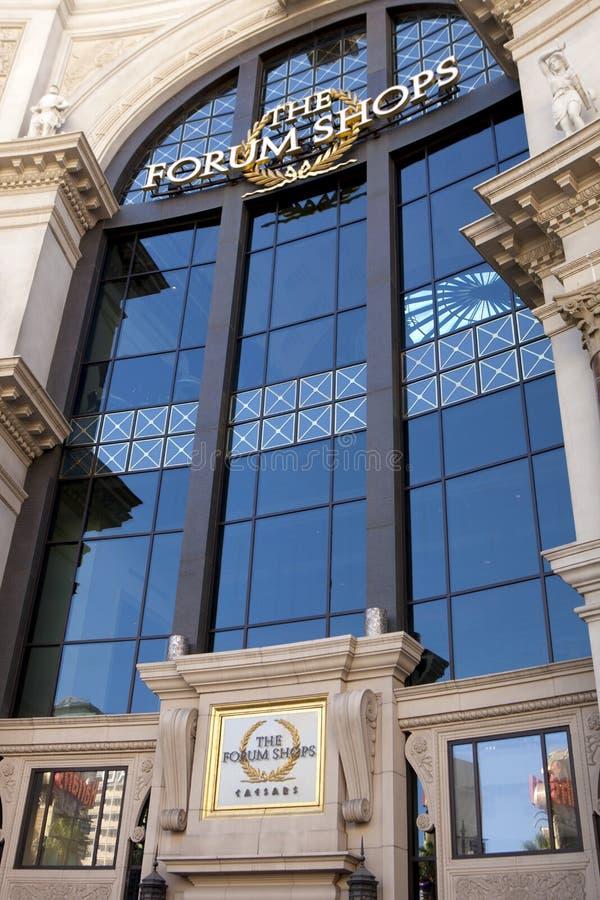 论坛在凯撒宫旅馆和赌博娱乐场购物在拉斯维加斯,内华达 库存图片