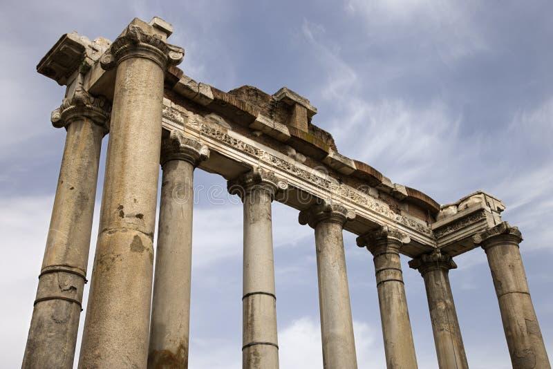 论坛意大利罗马罗马废墟 免版税库存照片