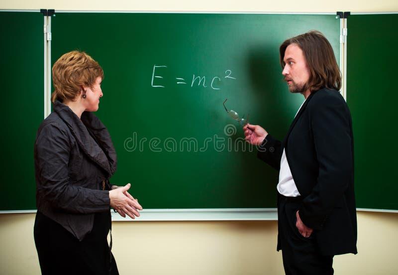 论述科学 免版税库存照片
