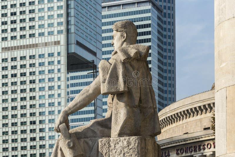 讽刺观点的当前共产主义者过去和资本家 免版税图库摄影