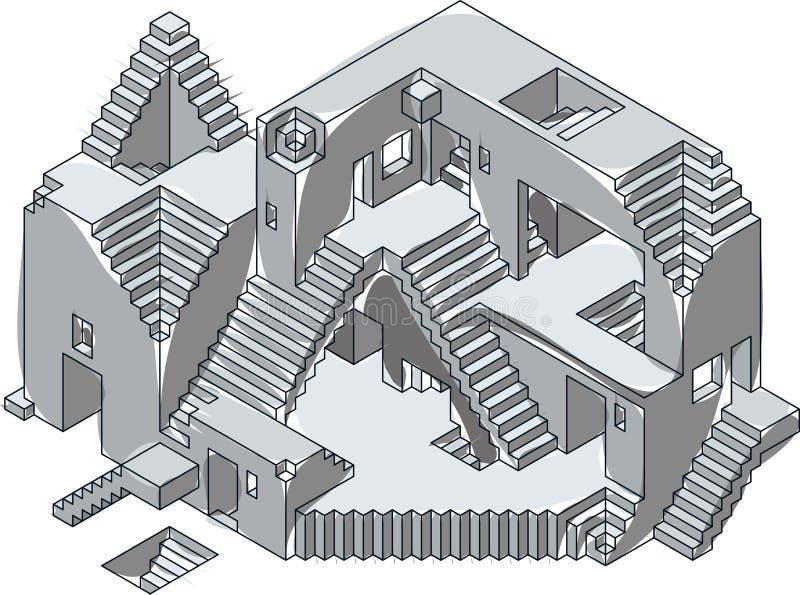 建设中剪影 向量例证