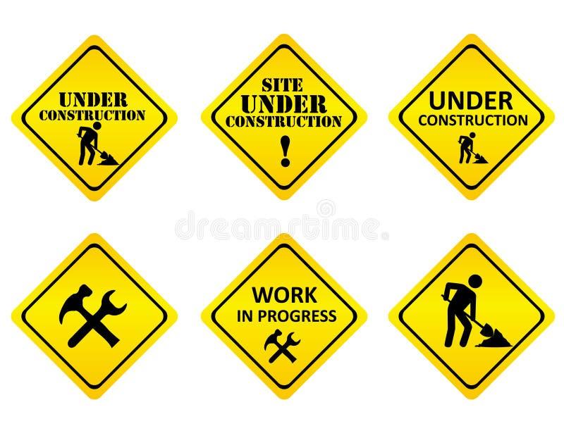 建设中标志 库存例证