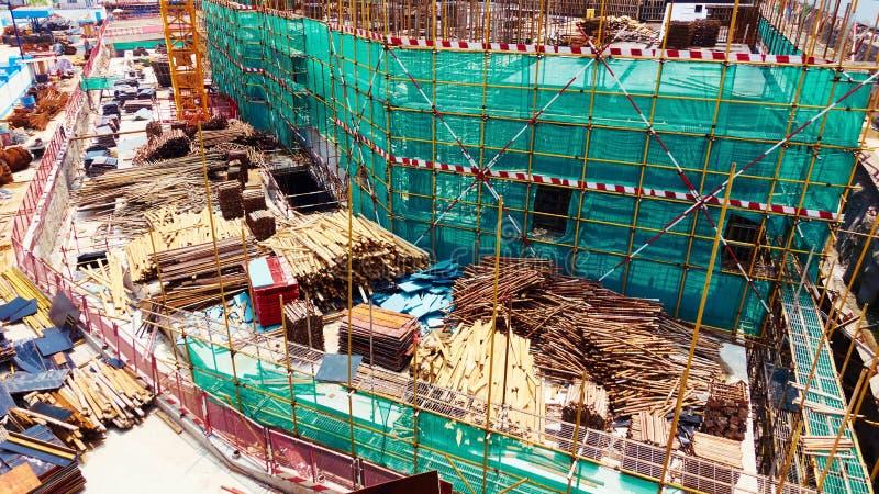 建设中站点 免版税图库摄影