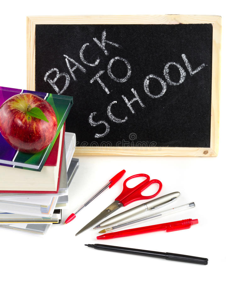 设备准备好的学校 免版税库存照片