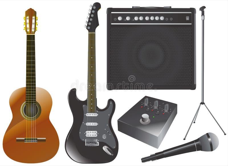 设备吉他音乐向量 向量例证