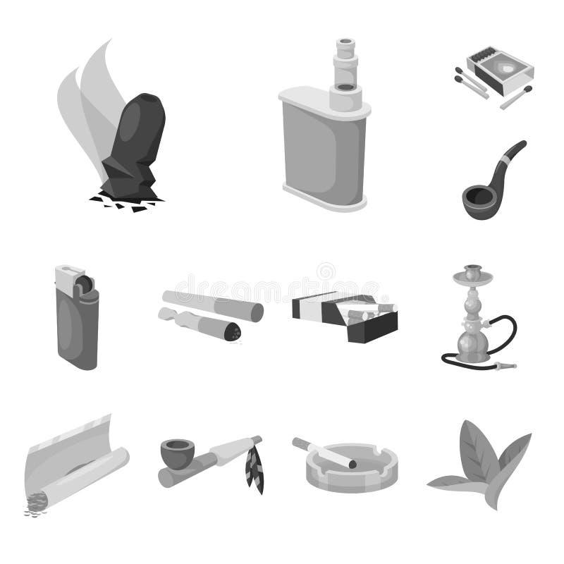 设备和抽烟的象的传染媒介例证 设备的汇集和害处股票的传染媒介象 皇族释放例证