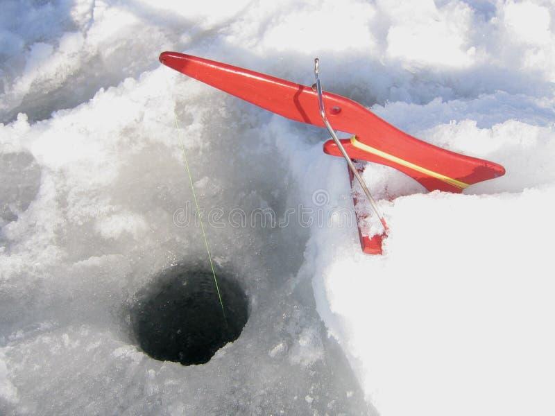设备捕鱼冰 库存图片