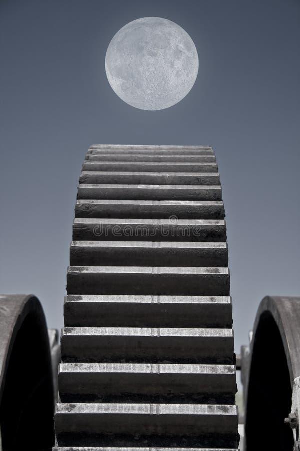 设备月亮 免版税库存照片
