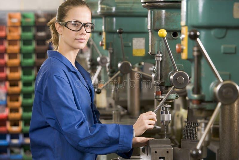 设备机械师工作 免版税库存照片