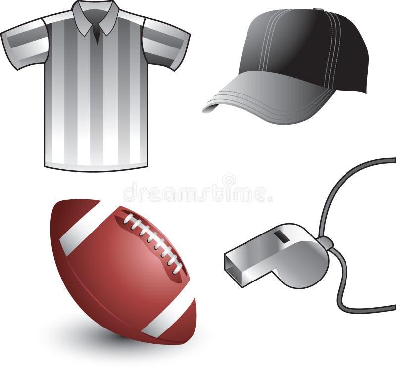 设备橄榄球裁判 库存例证