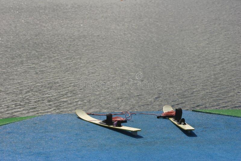 设备滑雪水 免版税库存照片