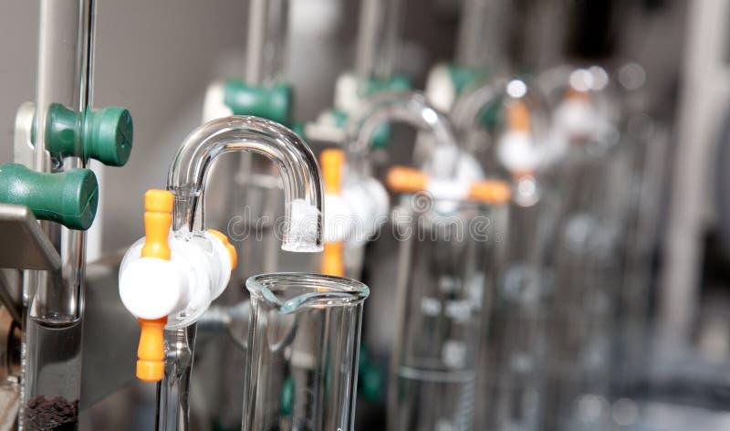 设备滤清实验室科学水 免版税库存图片