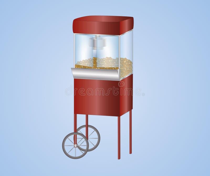 设备玉米花 向量例证