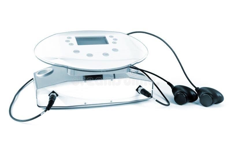 设备皮下脂肪切除术被设置的超音波 库存照片