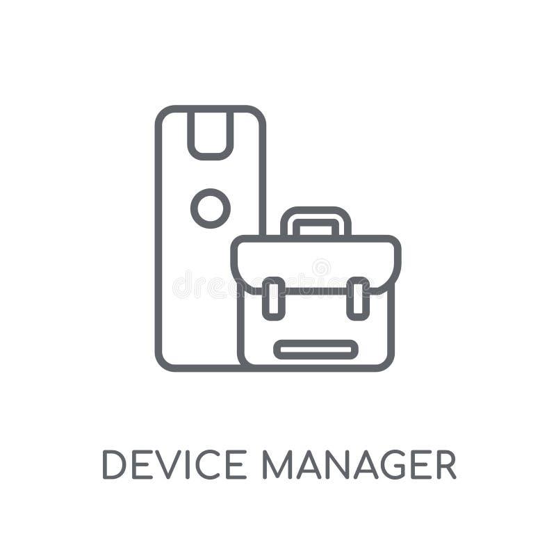 设备管理程序线性象 现代概述设备管理程序商标c 皇族释放例证