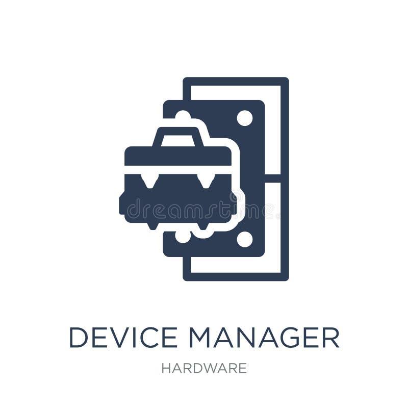设备管理程序象 在w的时髦平的传染媒介设备管理程序象 皇族释放例证