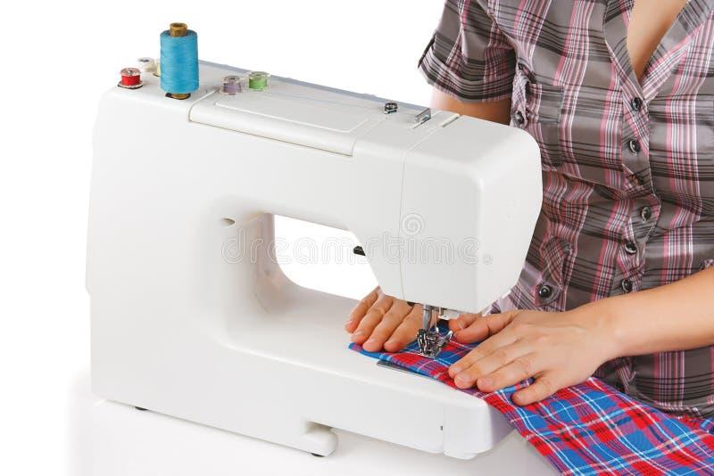 设备缝合的妇女 免版税库存照片