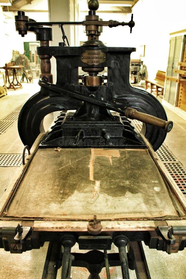 设备老打印 免版税库存照片