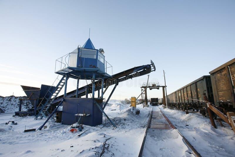 设备行业最新的石油精炼区域 免版税库存照片