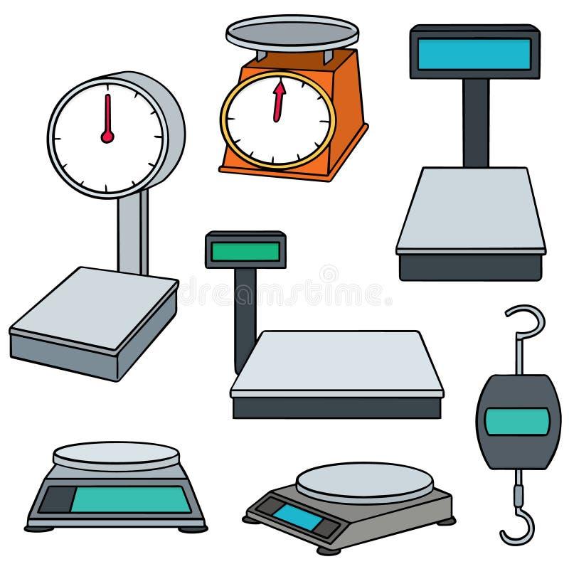 设备评定使用称您的重量 向量例证