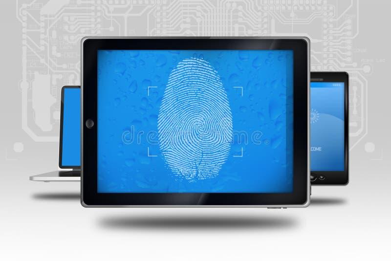设备身分检查 向量例证