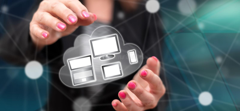 设备连接的概念 免版税图库摄影
