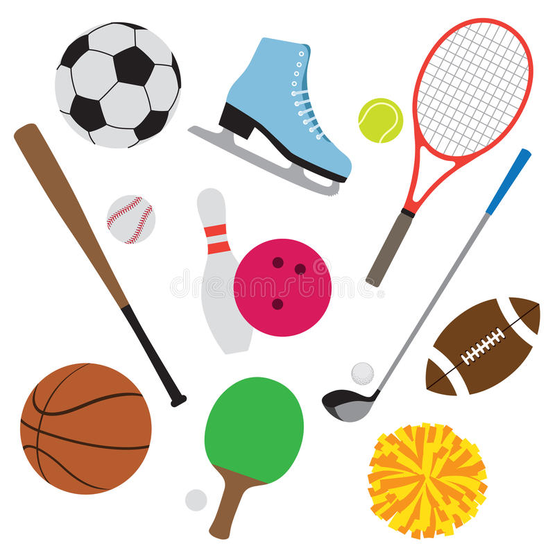 设备集合体育运动 向量例证